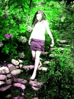 Artistic Cassandra ~  Cass loves to be artistic- she took this photo of herself at Lake Chelan.