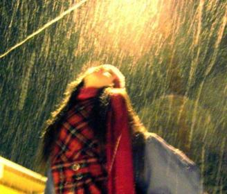 Kat in the snow ~  Katrina enjoying the snow.
