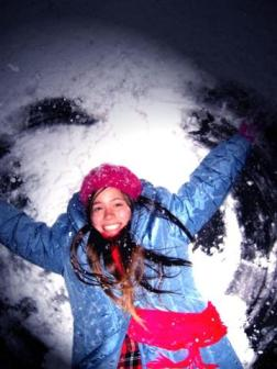 Snow Angel ~  Kat being Kat in the snow.