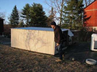 New cat pen. ~  This is the second large cat pen we just built for the strays.