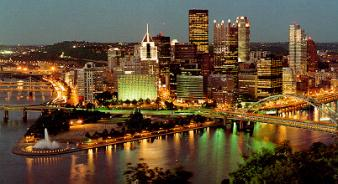 Downtown Pittsburgh ~ Pittsburgh after dark.