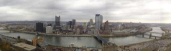 Downtown Pittsburgh ~ Panoramic view.