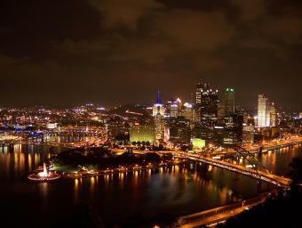 Pittsburgh at Night ~ Downtown Pittsburgh at night.