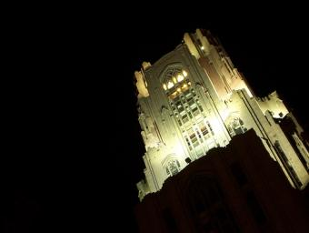 Cathedral of Learning ~ Cathedral of Learning (University of Pittsburgh) at night.