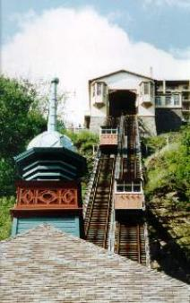 Monongahela Incline ~ Years ago, there were 17 inclines in Pittsburgh.  There are two left - the Monongahela Incline and the Duquesne Incline.