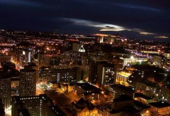 High Atop the Cathedral of Learning ~ View from the Cathedral of Learning in the Oakland area of Pittsburgh, PA,