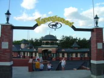 Kennywood Park Entrance ~ When I was a kid, there were two large amusement parks in the Pittsburgh area - Westood and Kennywood.  Only Kennywood Park remains.  Kennywood is really in West Mifflin, about 10 miles from downtown Pittsburgh.  Kennywood is one of two amusement parks listed in the National Register of Historic Places, the other being Coney Island. It was founded in 1898 as a small trolley park begun by the Monongahela Street Railway Company, which was controlled by Andrew Mellon.   We had our yearly school picnics at Kennywood.  We rode the trolley to get there and it seemed to take forever!  Dad would join us after work and not long after eatin...