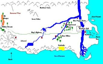 """A Map of Elkwater ~  This is merely a convenient place to park this map.  If you'd like to visit Elkwater see """"Elkwater's King"""", my novel-in-progress."""