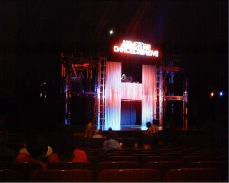 ABDC Tour Live - The Stage! ~ It looked too cool!!! And as you can see, I was one of the early folks to arrive. Excited much? *lol*