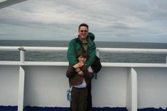 Mike and Liane in the Irish sea ~  No description included.