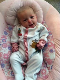 12-17-2012 ~  Rosalie in her reindeer outfit!