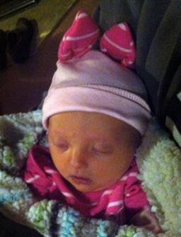 10-30-2012 ~  Rosalie's Halloween outfit. Piglet!