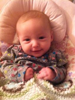 01-13-2013 ~  Having fun with Mommy and cuddling with blankets.