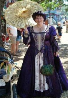 Lady in Plum ~  One of My fav gowns from the MN Renaissance Fair.