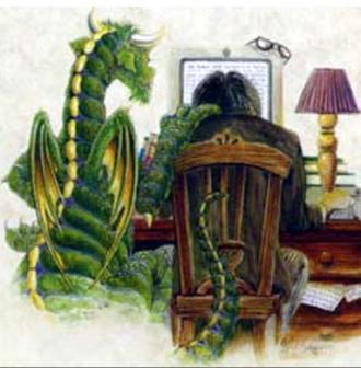 Invisible Dragon ~  A Writer's Muse.