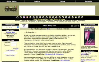 Writing.Com circa 2005... ~ What it looked like way back then.