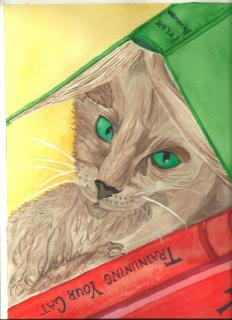 Cat Training  ~  New in 2015 Cat Series Water colors.