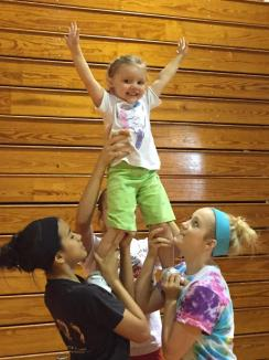 Future Cheer Captain!! ~  You can just see the love of cheering in her eyes! *Smile*