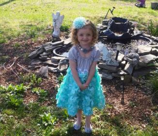 Easter Attire! ~  Her new Mommy dresses her so pretty - and I love the curls!! *Smile*