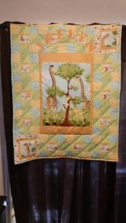 Jaelyn's baby Quilt ~ Made from Suzy Bee Zoey the giraffe fabric line.