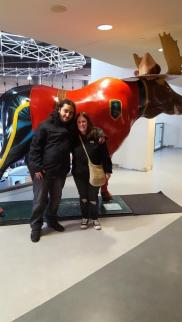 Moe and I with the Moose, Take 3 ~ The best one. :)