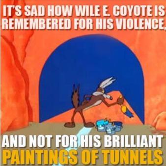 Wile E. Coyote art ~