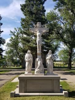 Monument, Saint Mary's Cemetery, Watertown, South Dakota ~ Cemetery's and their monuments often fascinate me.  This one is no exception.  I found it absolutely beautiful, and had to snap a photo of it.