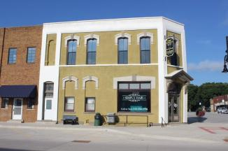 The Site Of The Last Bank Bonnie & Clyde Robbed ~ Originally, this was the First National Bank of Stuart, Iowa, and in April 1934, Bonnie & Clyde robbed this bank.  They were killed six weeks later in an ambush in Bienville, Parish, Louisiana, each shot more than 25 times.