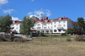 The Stanley Hotel ~  The Stanley Hotel is a 142-room Colonial Revival hotel in Estes Park, Colorado, United States of America. Approximately five miles from the entrance to Rocky Mountain National Park, the Stanley offers panoramic views of Lake Estes, the Rockies and especially Long's Peak. It was built by Freelan Oscar Stanley of Stanley Steamer fame and opened on July 4, 1909, catering to the American upper class at the turn of the century.  The hotel and its surrounding structures are listed on the National Register of Historic Places.