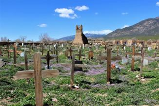 The Original San Geronimo Church Taos, Pueblo ~  I found this view of the Taos Pueblo graveyard astonishing & beautiful.  I would love to learn more about their culture, but would never intrude on their way of life.