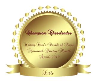 Parade of Poets - Cheerleader Award ~ from  [Link To User gabriellar45]