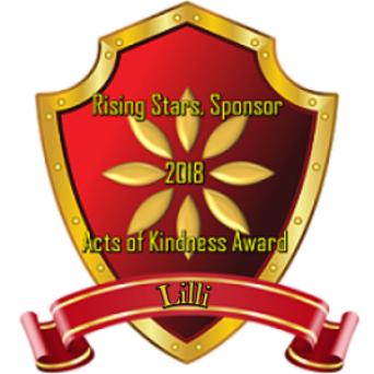 Rising Star Sponsor - Kindness Award 2018 ~ From:  [Link To User gabriellar45]