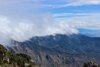 View Of Clouds On The Mountain Tops, from Sandia Peak ~  No description included.