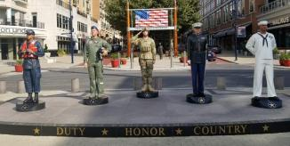 Statues of a member of each Armed Service ~  No description included.
