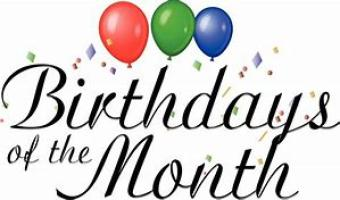 Birthdays of the Month ~  No description included.