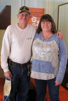Mikewrites and I  ~   [Link To User mikewrites]  and I at our first ever meet and greet at the Village Inn. It was so wonderful to get to meet him and share breakfast and conversation.