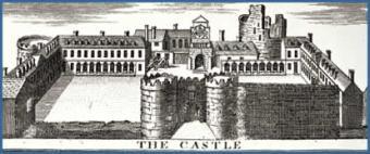 Dublin Castle  ~  Dublin Castle as it looked in 1728