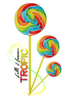 TROPIC Lolli Hammer ~  *Dollar* Cost: 8,000 gift points   *Star* Ability:       x2   :: Double the corresponding XP of ROY [ Red ,  Orange ,  Yellow ] colored candies if hit.     +10   :: Increase 10 XP on all types of candies crushed.
