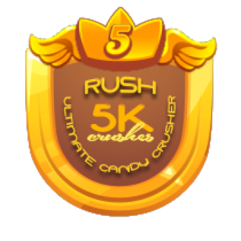5K CRUSHES ~     5,000 CANDY CRUSHES    This will be awarded to players who crushed a total of 5,000 candies.   Note: This award will be entitled to MULTIPLE players   *AwarenessRB*PRIZE:  1 Merit Badge of Winners' Choice 10K worth of GC to  [Link To Item #2243684]