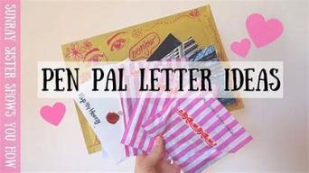 Pen Pal Ideas ~  No description included.