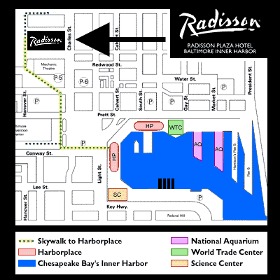 Baltimore Convention Map