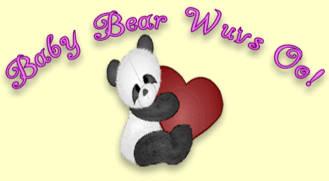 Baby Bear design w/short legend