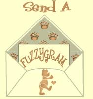 Fuzzy Bear Send Envalope