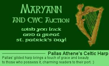 A St. Patrick's Day Harp sig that I won from the C.W.C. auction