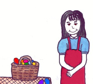A young orphan girl discovers how Easter eggs are made.