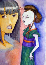 Japanese Women - another watercolor piece
