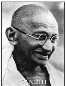 A Photograph of M.K. Gandhi