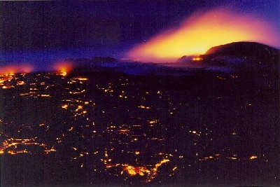 Lava meets the ocean, Kilauea, Hawaii.