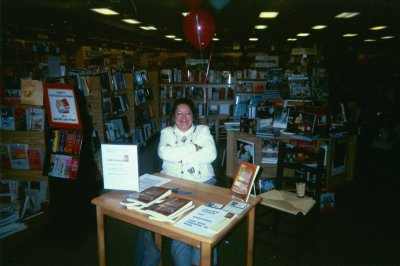 A photo of myself at the Chapters Bookstore at a Book-signing for IRISH OATMEAL.