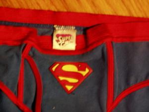 SuperGirl Blue underwear.